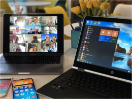Laptop and tablet computers & a mobile phone